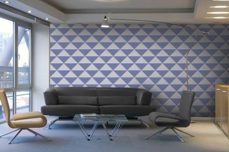 A  Purple  Repeatinggeometric Mosaic By Artaic