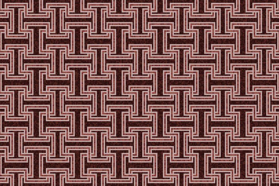Athena Rouge Tile Pattern