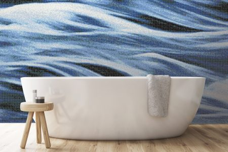 A  Blue  Wavesphotorealistic Mosaic By Artaic