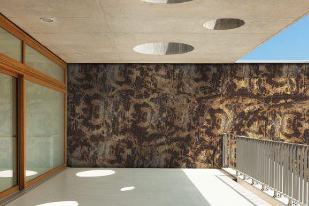 A  Gold  Tortoise Shelltextural Mosaic By Artaic