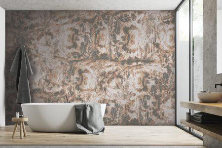 A  Tan  Tortoise Shelltextural Mosaic By Artaic