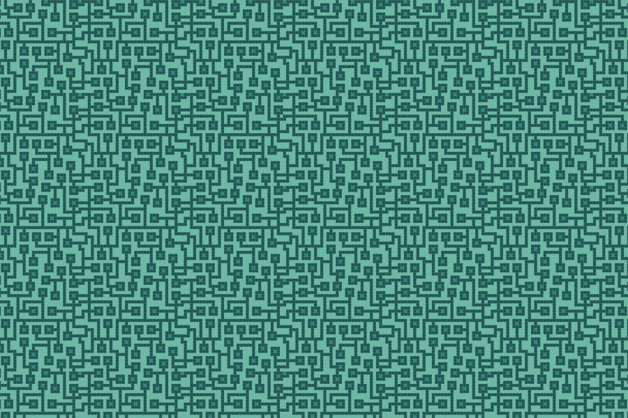 Circuitry Digital Turquoise Tile Pattern