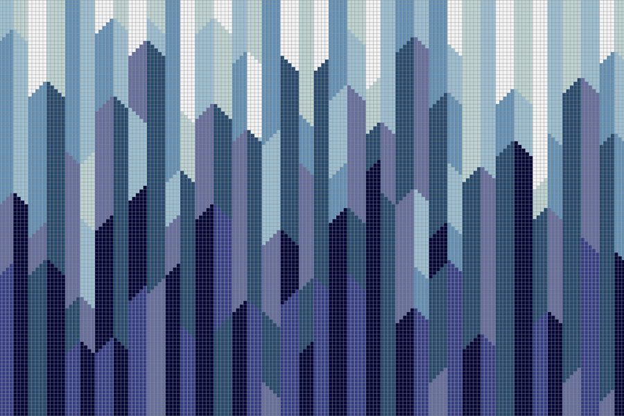 Crystalline Moonrise Tile Pattern