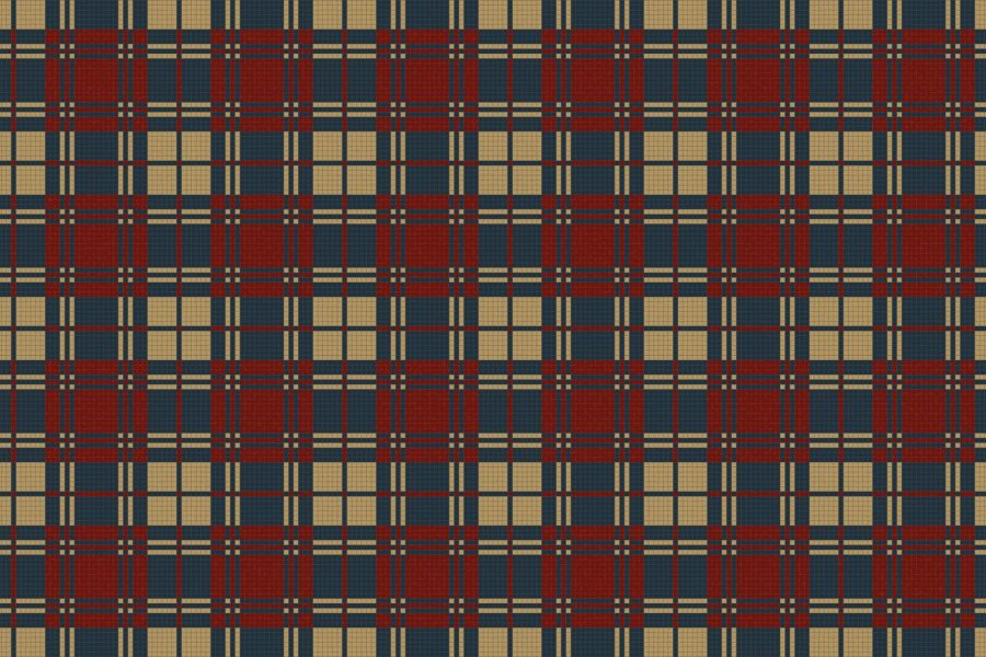 Gingham Cabin Tile Pattern
