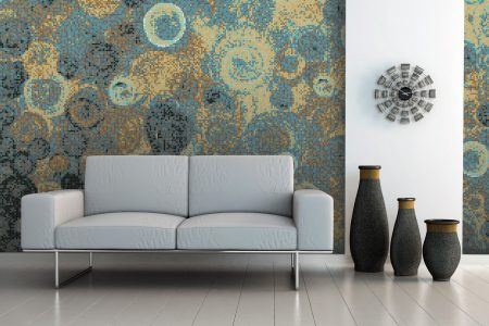 A  Turquoise  Effervescenceabstract Mosaic By Artaic