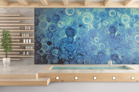 A  Blue  Effervescenceabstract Mosaic By Artaic