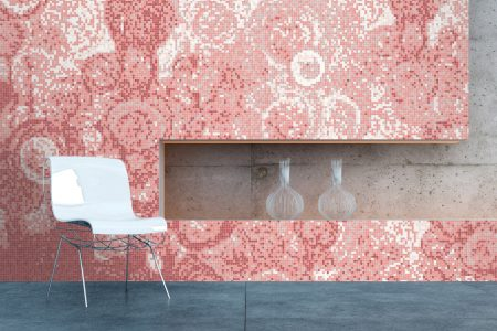 A  Pink  Effervescenceabstract Mosaic By Artaic