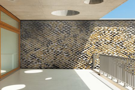 A  Gold  Snake Skintextural Mosaic By Artaic