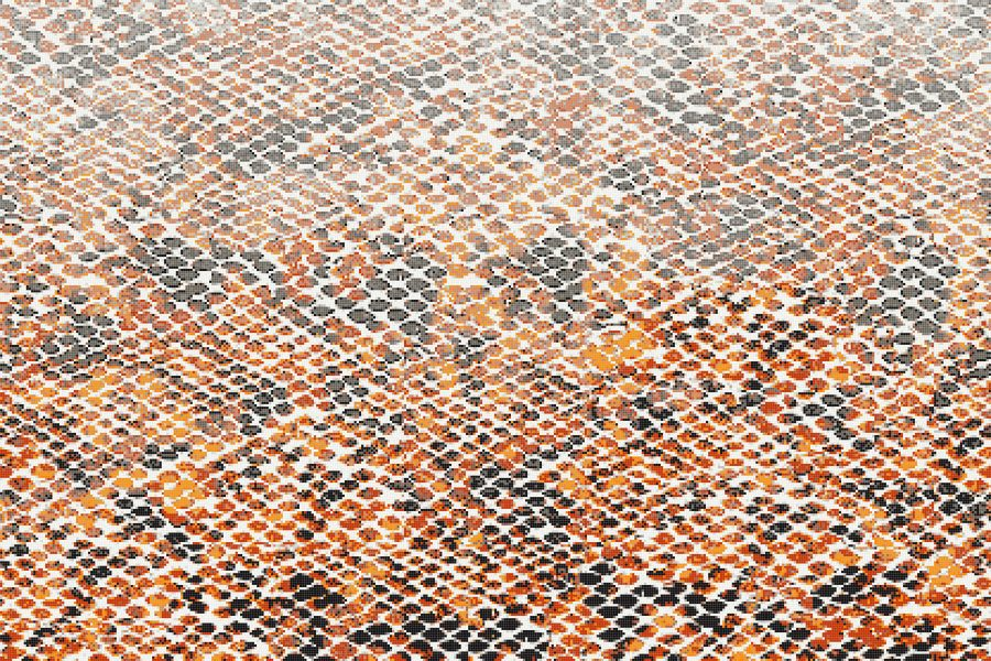 Hydrus Tangerine Tile Pattern