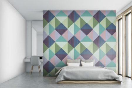 A  Green  Repeatinggraphic Mosaic By Artaic