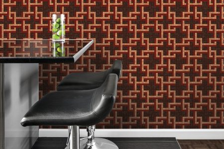A  Black  Latticegeometric Mosaic By Artaic