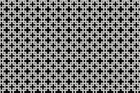 Lattice Lunar Tile Pattern