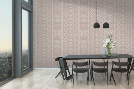 A  Tan  Repeatinggeometric Mosaic By Artaic