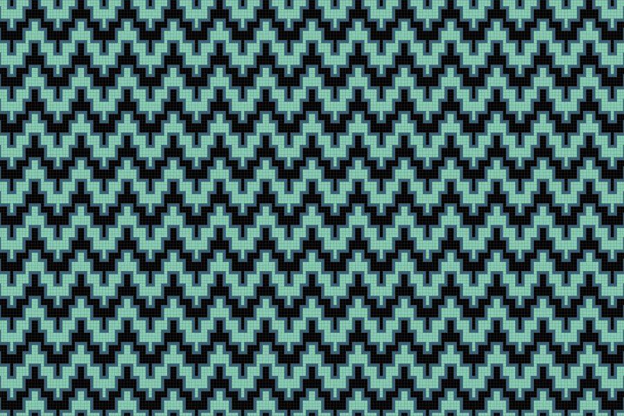 Maya Turquoise Tile Pattern