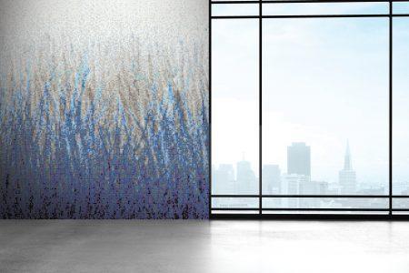 A  Blue  Grassartistic Mosaic By Artaic