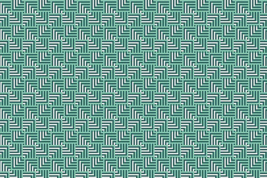 Plateau Turquoise Tile Pattern