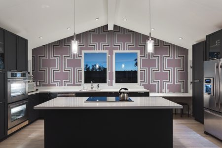 A  Purple  Statementgeometric Mosaic By Artaic