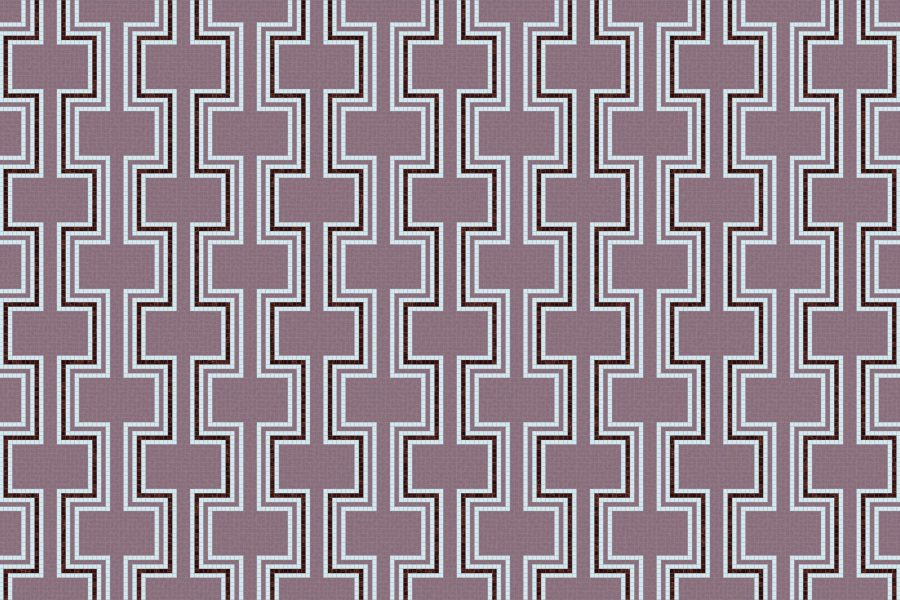 Retrograde Eggplant Tile Pattern