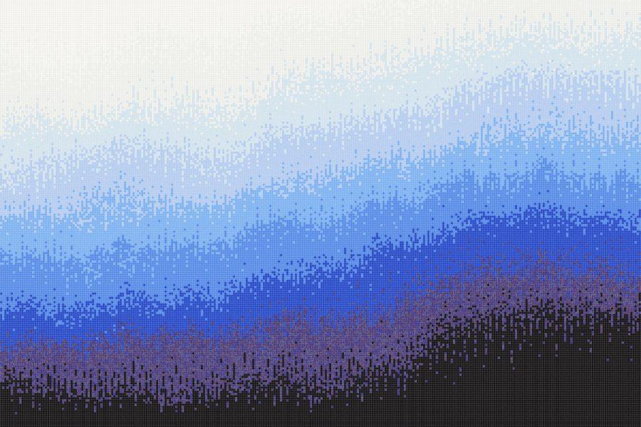 Sediment Glacier Tile Mural