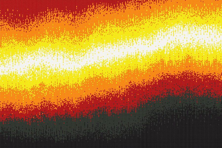Sediment Magma Tile Mural