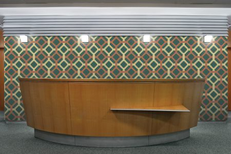 A  Brown  Pixelsgeometric Mosaic By Artaic