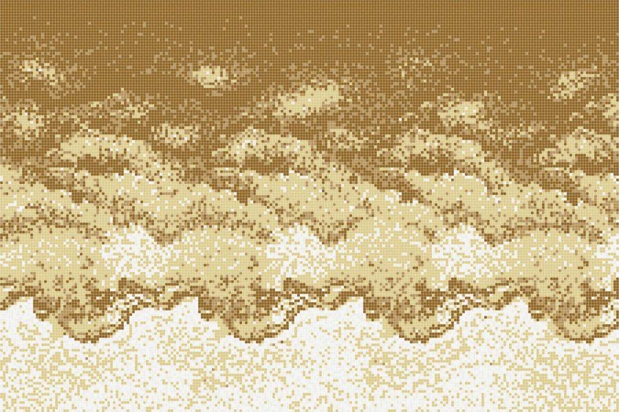 Stratify Shimmering Sand Tile Pattern