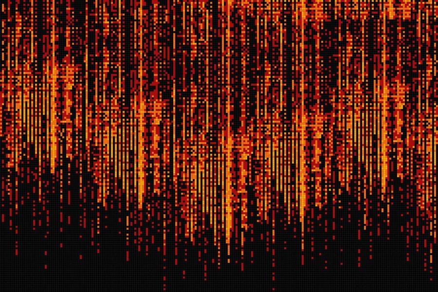 Surge Magma Tile Pattern