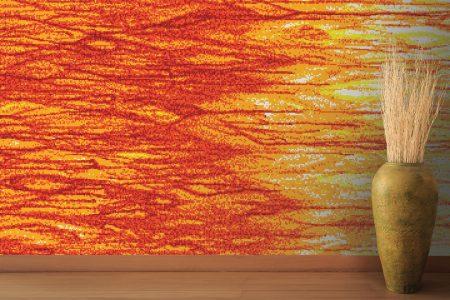 A  Turquoise  Firetextural Mosaic By Artaic