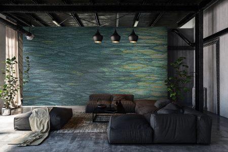 A  Green  Watertextural Mosaic By Artaic