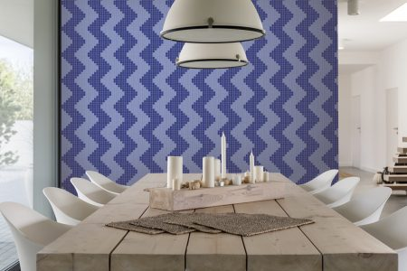A  Purple  Repeatinggeometric Mosaic By Artaic