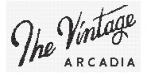 the vintage arcadia logo in tile