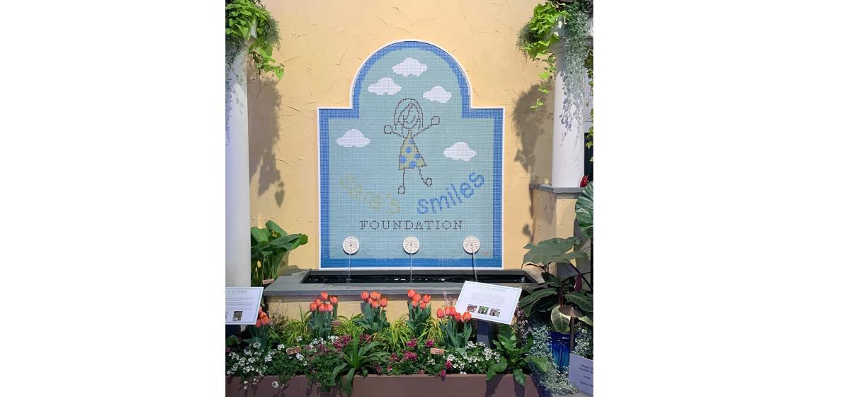 Sara Smiles Foundation Mosaic – Philadelphia Flower Show 2020