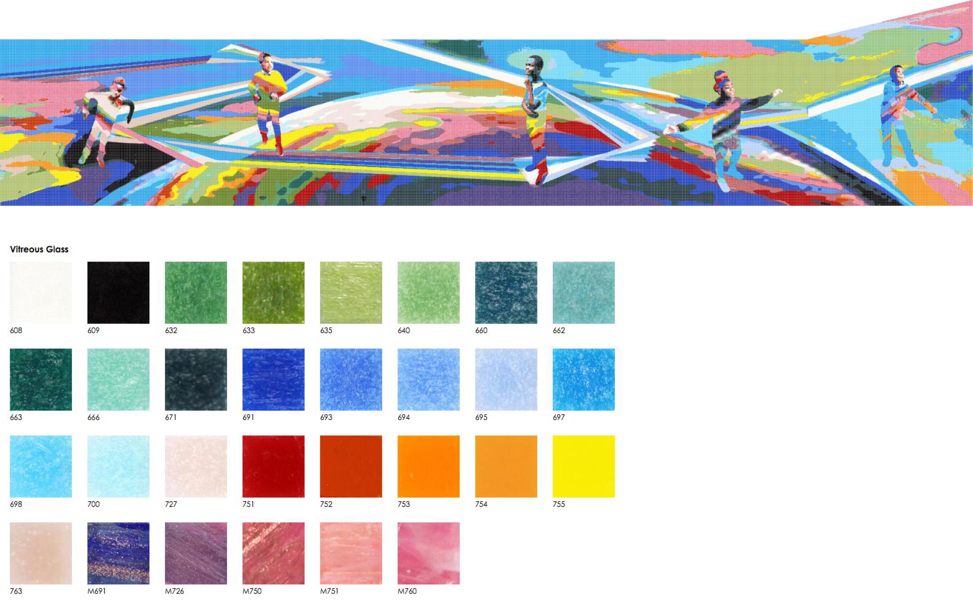 Rainbow Recreation Center Mosaic