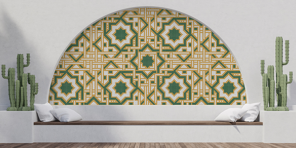 Traditional patterns rendered in bold modern hues