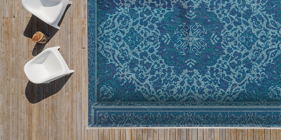 Celebrating the woven art form through traditional, contemporary, and eclectic mosaic designs
